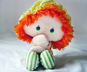 Apple Doll Hiding Mouth